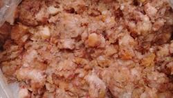 Фарш семги мясокостный